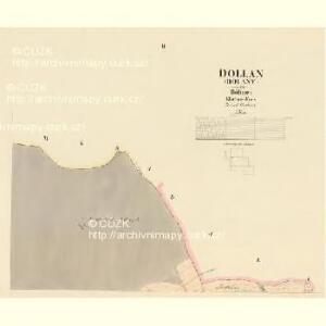 Dollan (Dolany) - c1236-1-002 - Kaiserpflichtexemplar der Landkarten des stabilen Katasters