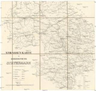 Strassen-Karte des Herzogthums Steyermark