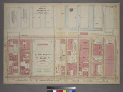 Plate 40, Part of Section 4: [Bounded by Twelfth Avenue (Hudson River Piers), W. 59th Street, Eleventh Avenue and W. 59th Street.]
