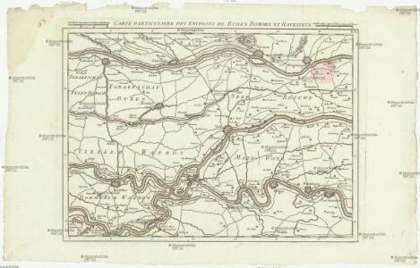 Carte particuliere des environs de Buren Bommel et Ravesteyn