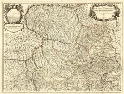 Carte du Piemonte et du Montferrat
