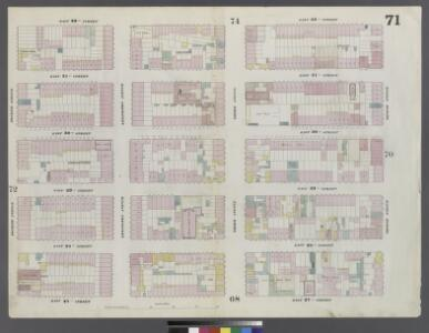 Plate 71: Map bounded by East 32nd Street, Second Avenue, East 27th Street, Fourth Avenue