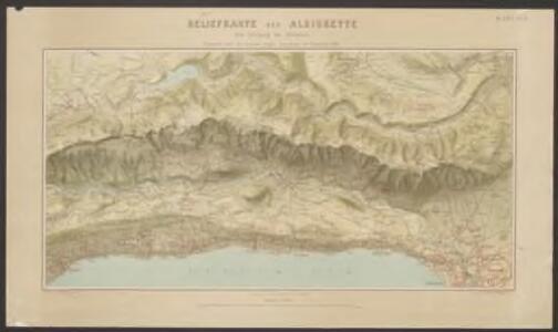 Reliefkarte der Albiskette