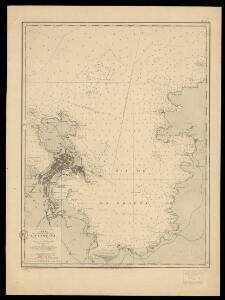 Carta de la ria y puerto de la Coruña levantada por la Comisión Hidrográfica en 1912