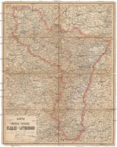 Karte der Reichs-Provinz Elsass-Lothringen