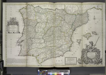 A new & exact map of Spain and Portugal, divided into its kingdoms and principalities &c. ...