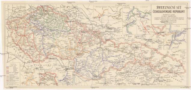 Železniční síť Československé republiky
