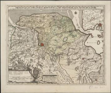 Groningae et Omlandiae Dominium vulgo De Provincie van Stadt en Lande, cum subjacent. territ. praefect. et tractibus