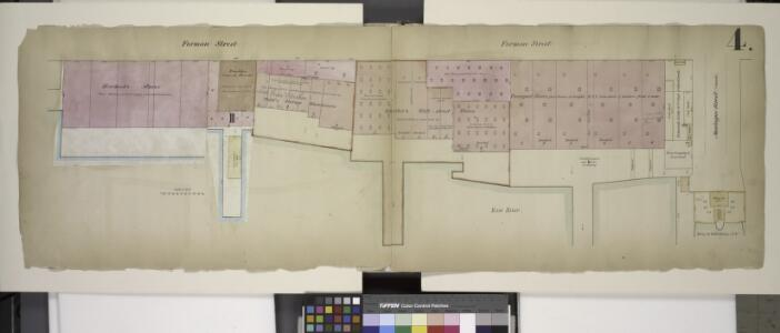 Double Page Plate No. 4; [Map bounded by Furman St.,  Montague St. (Raised); Including Ferry to Wall St. New York, East River]