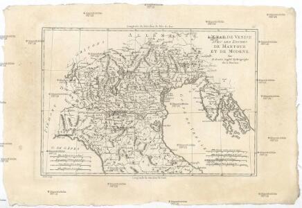 L'etat de Venise avec les duchés de Mantoue et de Modene