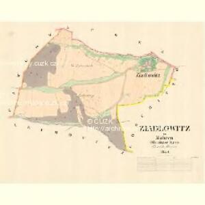 Ziadlowitz - m3624-1-001 - Kaiserpflichtexemplar der Landkarten des stabilen Katasters
