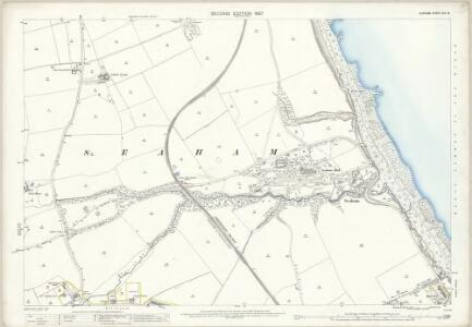 Durham XIV.15 (includes: Burdon; Seaham; Seaton With Slingley) - 25 Inch Map