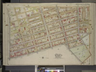 Brooklyn, Vol. 3, Double Page Plate No. 11; Part of   Ward 17, Section 9; [Map bounded by Humboldtdt St., Engert Ave., Bedford Ave.;   Including  Manhattan Ave., Greenpoint Ave., Calyer St., Meserole Ave.]