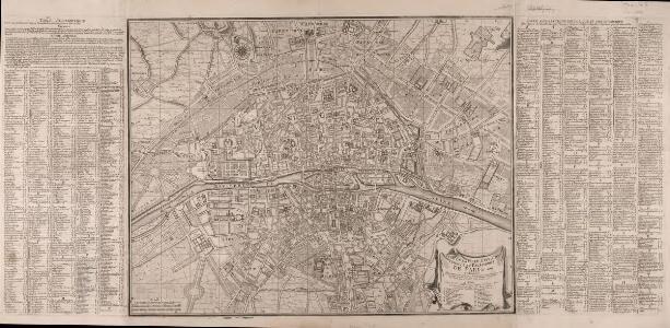 Plan de la ville, cité, université, et faubourgs de Paris avec ses environs