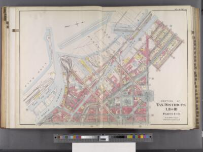Buffalo, V. 2, Double Page Plate No. 31 [Map bounded by Erie Basin, Carolina St., 7th St., Main St., Lake Erie] / engraved by Albert Volk.