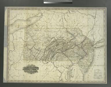 Map of Pennsylvania and New Jersey / by H.S. Tanner; engraved by H.S. Tanner & assistants.