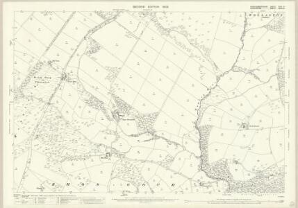 Montgomeryshire XXIV.6 (includes: Middletown; Trelystan; Trewern; Westbury; Worthen) - 25 Inch Map