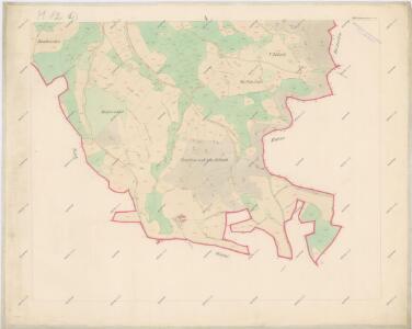 Katastrální mapa obce Chlístov