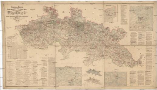 Spezial Karte für Verkehr, landwirtschaftliche, Montan u. gewerbliche Industrie des Bezirkes der Handels und Gewerbekammer Reichenberg
