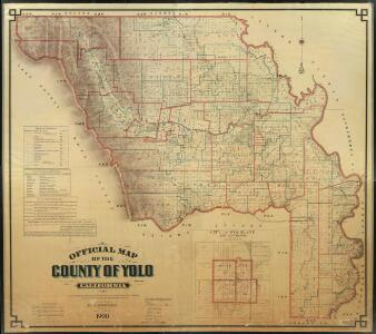 Official Map of Yolo County, California, 1900.