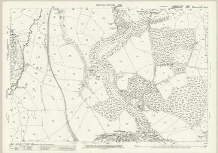 Pembrokeshire III.13 (includes: Bridell; Cardigan; Cilgerran; Llangoedmor) - 25 Inch Map