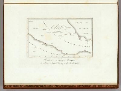 Carte de Fausses Positions de Mexico, Acapulco, Veracruz et du Pic d'Orizaba.