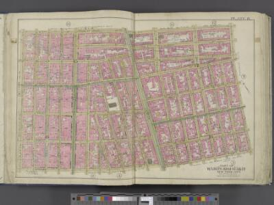 Manhattan, Double Page Plate No. 8 [Map bounded by W. 3rd St., E. 3rd St., Essex Ave., Broome St., S. 5th Ave.]