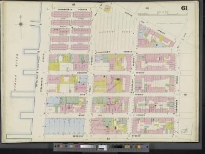 Manhattan, V. 3, Double Page Plate No. 61 [Map bounded by Little 12th St., Greenwich St., Bethune St., 13th Ave., Bloomfield St.]