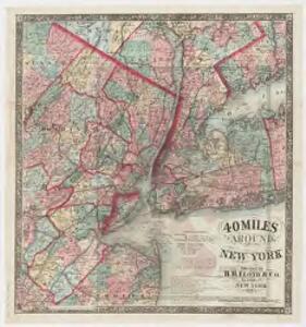 40 miles around New York