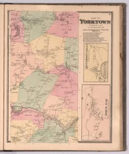 Town of Yorktown, Westchester County, New York.  (insets) Jefferson Valley.  Shrub Oak.