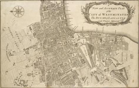 NEW and ACCURATE PLAN of the CITY of WESTMINSTER, The DUTCHY of LANCASTER and Places Adjacent