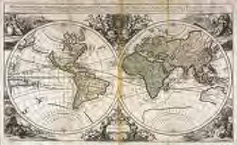 Mappe-Monde geo-hydrographique, ou description generale du globe terrestre et aquatique en deux plans-hemispheres