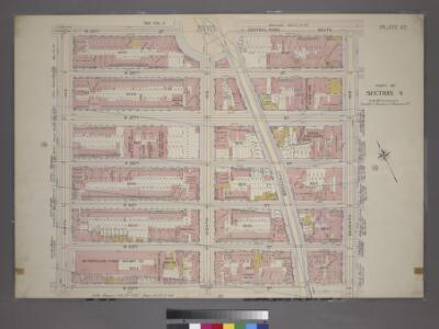 Plate 42, Part of Section 4: [Bounded by W. 59th Street, Central Park South, Seventh Avenue, W. 53rd Street and Ninth Avenue.]