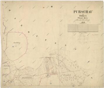 Katastrální mapa obce Pořejov
