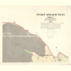 Moldautein - c8143-1-001 - Kaiserpflichtexemplar der Landkarten des stabilen Katasters