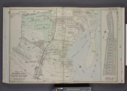 Part of Wards 4 & 5. [Map bound by Clarke Ave, Emmet  Ave, Maple Ave, Lower Bay, Seaside Ave, Bridge Ave, Fresh Hills Road; Property   of South New York Villa Site Co. - 1st St, Cortel You Ave, Fresh Kill Road,      Richmond Ave, 21st St, Thompson Ave