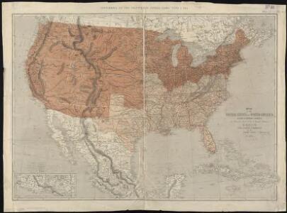 Map of the United States of North America, upper & lower Canada, New Brunswick, Nova Scotia & British Columbia, Mexico, Cuba, Jamaica, St. Domingo and the Bahama Islands