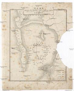 Plan of the position of the allied squadrons and turkisch fleet in the action of the 20th Oct.r 1827 at Navarino