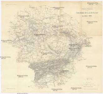 Übersichtskarte für die Operationen der k. k. Nordarmee im Jahre 1866