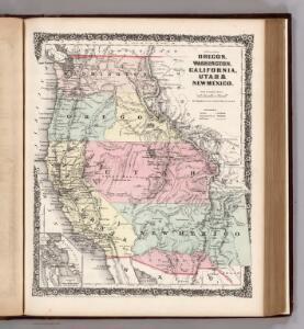 Oregon, Washington, California, Utah, and New Mexico.