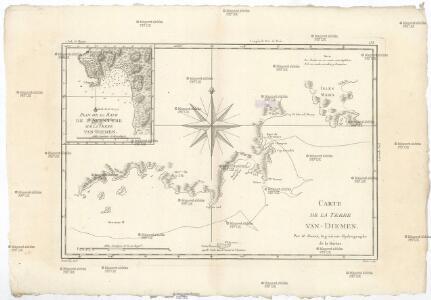 Carte de la Terre Van-Diemen