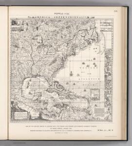 Facsimile:  British Empire in America by Popple.