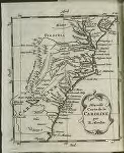 Nouvelle carte de la Caroline / par R. Morden.; L'Amerique angloise, ou Description des isles et terres du roi d'Angleterre, dans l'Amérique. Avec de nouvelles cartes de chaque isle & terres. Traduit de l'anglois.
