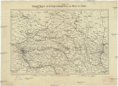 Special Karte des Kriegsschauplatzes von Metz bis Paris