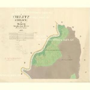 Chilitz (Chilice) - m1000-1-001 - Kaiserpflichtexemplar der Landkarten des stabilen Katasters