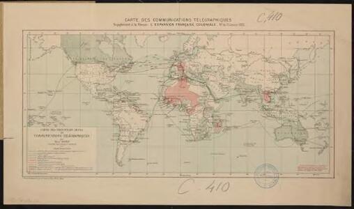 Carte des communications télégraphiques