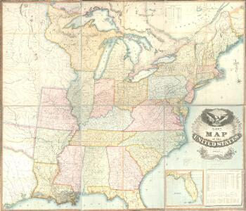 Lay's map of the United States / compiled from the latest and best authorities and actual surveys by Amos Lay, geographer and map publisher ; engraved by O.H. & D.S. Throop & Wm. Chapin.