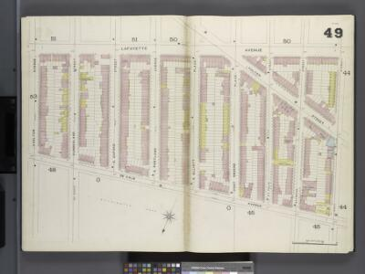 Brooklyn V. 2, Double Page Plate No. 49 [Map bounded by Lafayette Ave., Navy St., De Kalb Ave., Carlton Ave.]