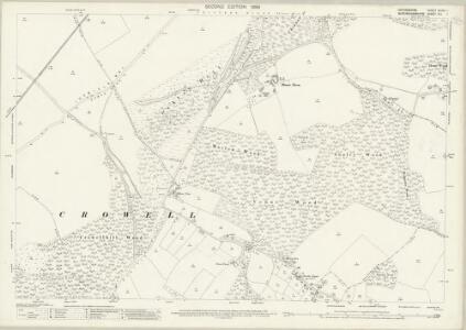 Oxfordshire XLVIII.1 (includes: Aston Rowant; Bledlow Cum Saunderton; Chinnor; Crowell; Radnage) - 25 Inch Map