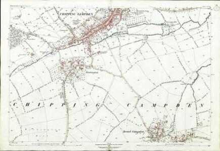 Gloucestershire VII.16 (includes: Chipping Campden) - 25 Inch Map